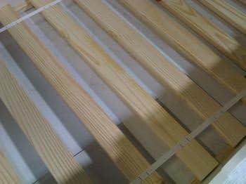 Base de listones - 121,92 cm para cama de matrimonio madera de pino maciza juego de cama (10 piezas)