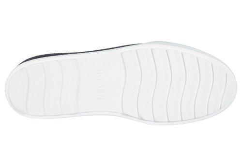 Hogan zapatos zapatillas de deporte mujer en piel nuevo R320 negro
