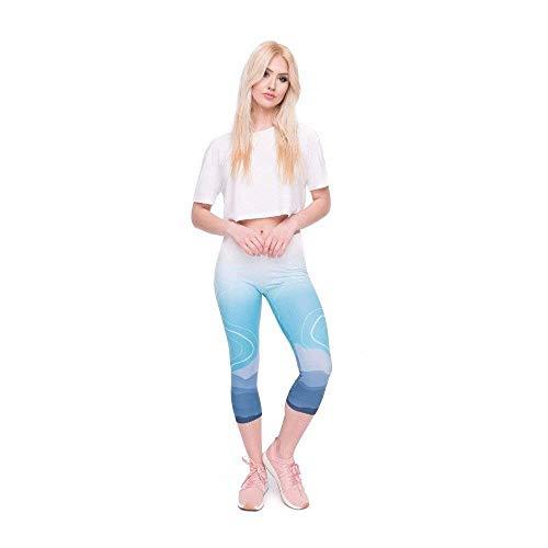 Wild 4 Grazioso Stampa Biran Lgc45798 Capri Allenamento Mid Leggings Pants Calf Qualità Moutain Di 3 Alta Pantaloni Fitness Yoga Summer Tee Da Women wwU6q7p