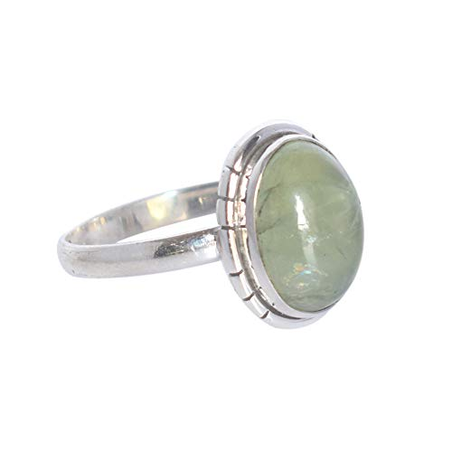 Ravishing Impressions Wonderful Green Prehnite Gemstone 925 Solid Sterling Silver Handmade Ring Sz 6, Gift for Girls…