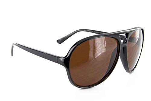 Classic Air Force Aviator Sunglasses Blue Blocking Driving Lens ((Black), Blue Blocking)