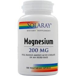 SOLARAY Magnesium (200mg) 100 vcaps