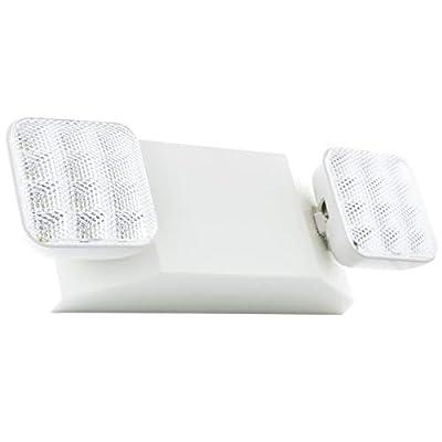 Hardwire LED Emergency Light Standard with Adjustable Heads, Backup Battery, UL Certified