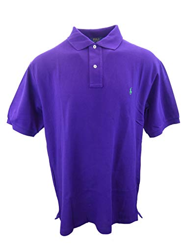 - Polo Ralph Lauren Men's Big & Tall Classic Fit Mesh Polo Shirt (2XLT, Deep Purple)