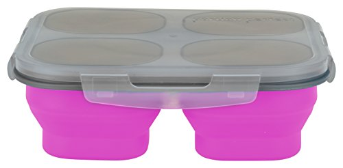 Smart Planet Portion Perfect Meal Kit Lunch Light with Spork, Pink (Perfect Portion Lunch Box)