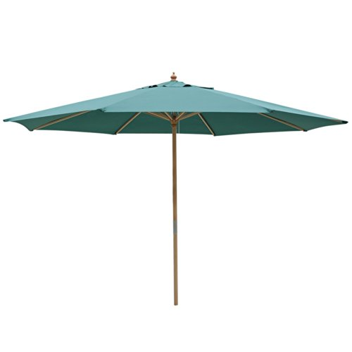 (Oversized 13-ft Diam. Octagon Round Green PE Umbrella & 98½