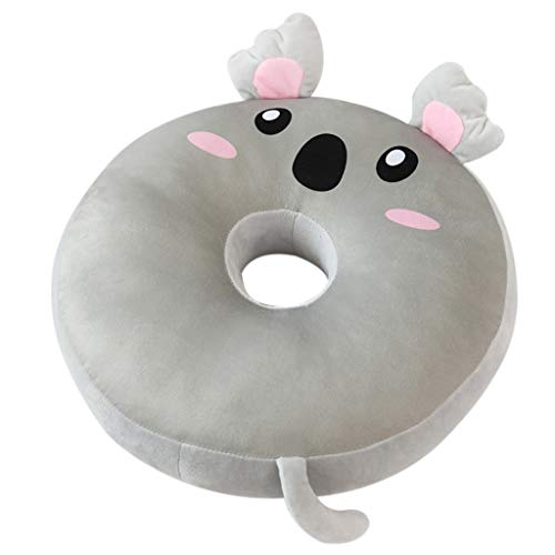 (LIUguoo Cartoon Circle Animal- Kids Seat Belt Car Travel Pillow and Plush Animal Toy – Compatible with Any Safety Belt to Provide Head & Neck Support)