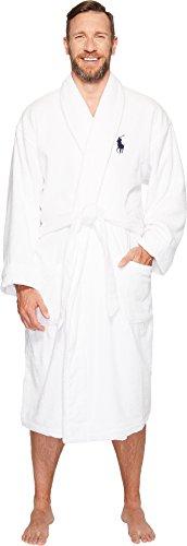 (Polo Ralph Lauren Men's Big Velour Kimono Robe White XXXX-Large)