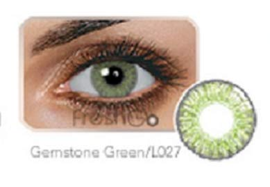 Freshlook Eyes Women Multi-Color Cute Charm and Attractive Fashion Contact Lenses Cosmetic Makeup Eye Shadow W/Case (FAST FREE SAME DAY SHIPPING!! (GEMSTONE GREEN) -