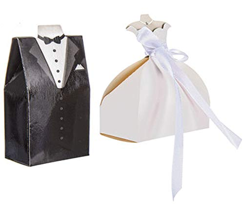 - Wisechoice Bride and Groom Wedding Favor Boxes | Perfect Thank You Gift