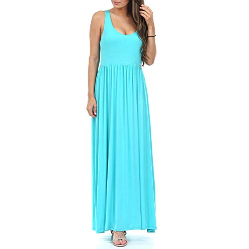 Women's Ruched Sleeveless Maternity Dress in Regular and Plus Sizes - Made in USA (Dresses Trendy Maternity)