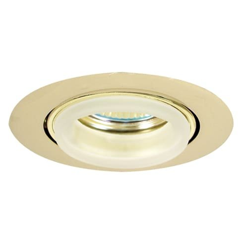 Elco Lighting E233G Mini MR16 Downlight with Diecast Gimbal Ring and Glass Ring - Diecast Gimbal Ring