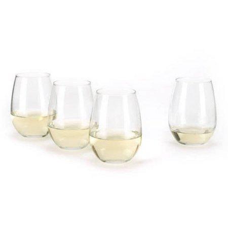 Anchor Hocking White Wine Glasses 15-oz. Stemless Set of 4