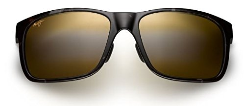 Maui Jim Red Sands Polarized Sunglasses Black and Grey Tortoise / Neutral Grey One Size