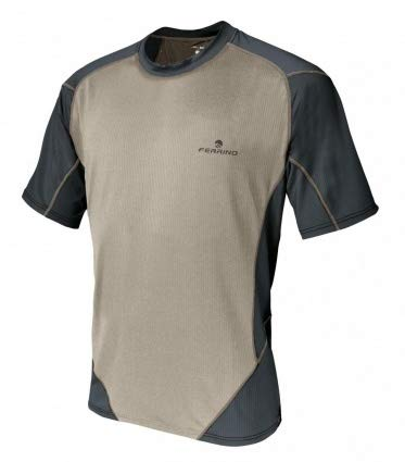 Ferrino T-Shirt Glasshouse Herren beige grau Größe XXL - XXL