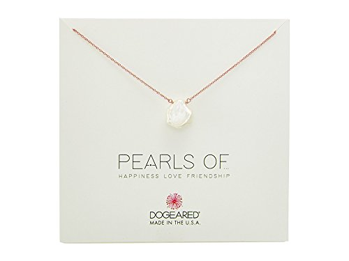 Cultured Pearl Rose Gold Bracelet (Dogeared Women's Pearls of¿Large Keshi Pearl Necklace Rose Gold One Size)