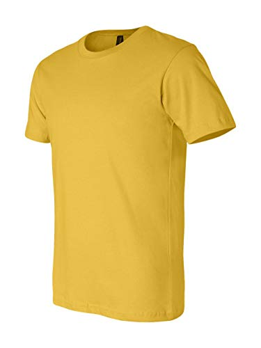 (Bella+Canvas Unisex Jersey Short Sleeve Tee, Maize Yellow, Large)
