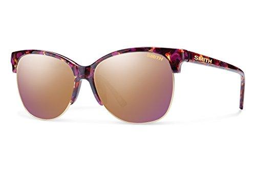 Smith Optics Rebel Sunglass, Flecked Mulberry Tortoise, Rose Gold Mirror - Ray Gold Rose Bans