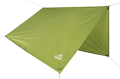 Pro Waterproof Rain Fly Backpacking Tarp By MaxiCamp - Portable, Lightweight Rainfly & Hammock Shelter - Essential Camping Tarp & Survival Gear For Fishing, Hunting, Motocamping