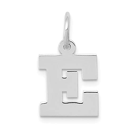 Jewelry Pendants & Charms Themed Charms 14k White Gold Small Block Initial E Charm ()