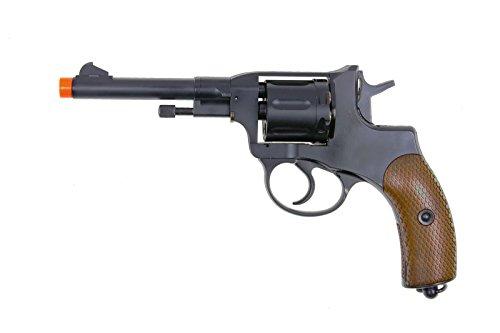 wg modelo-721 revólver nagant de metal completo co2 nbb incluye 4 funda de revólver-nylon (pistola Airsoft)