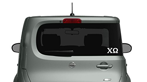 Chi Omega Decal - Car, Truck Laptop (2 Pack) (White)