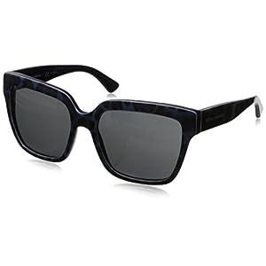D&G Dolce & Gabbana Women's 0DG4234 Square Sunglasses,Leopard Blue,57 mm