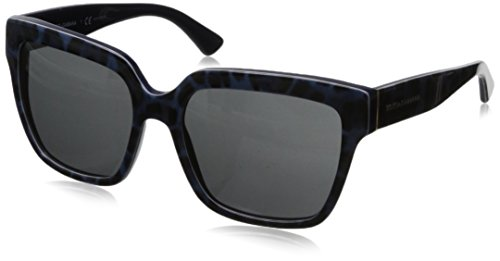 D&G Dolce & Gabbana Women's 0DG4234 Square Sunglasses,Leopard Blue,57 - Dolce And Sunglasses Gabbana 2014