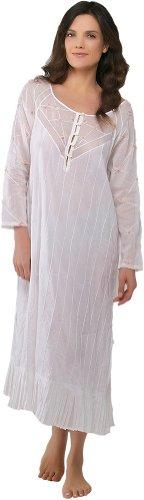 Louise Mitchell Women's Rose Trellis Cotton Nightgown 3/4...