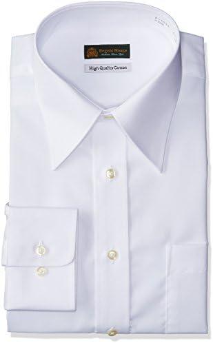 HARUYAMA 豊富な74サイズ展開 ハイクオリティー綿100%形態安定 白無地レギュラーカラーワイシャツ