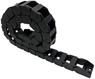 WNJ-TOOL, 1pc 18x25mm 1Meter Schleppkette Drahtträger Kabelschutz Towline Brücke Non Opening-Kette mit End-Steckverbinder (Größe : R100)