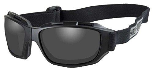 Harley-Davidson Men's Bend Gray Lens Goggles, Collapsible Black Frames ()