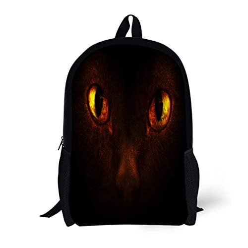 Pinbeam Backpack Travel Daypack Orange Alien of Burning Demonic Eyes Red Animal Waterproof School -