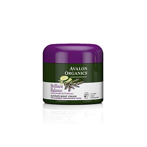 Avalon Organics Brilliant Balance Ultimate Night Cream, 2 oz. (Pack of 2)