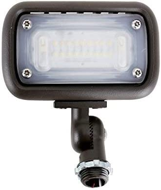 15W Outdoor LED Flood Security Lights, Waterproof Landscape Lighting, 50W PSMH Equivalent, 1500 Lumens, 4000K Cool White, 1 2 Adjustable Knuckle, UL-Listed, DLC4.2 Qualifiled, 5 Years Warranty