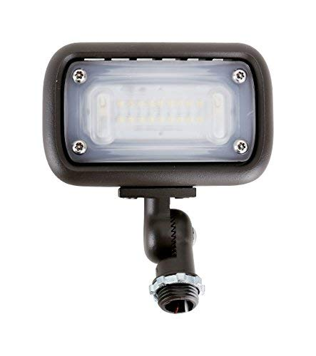 "15W Outdoor LED Flood Security Lights, Waterproof Landscape Lighting, 50W PSMH Equivalent, 1370 Lumens, 3000K Warm White, 120-277V, 1/2"" Knuckle Mount, UL-Listed DLC4.2 Qualiified, 5 Years Warranty"