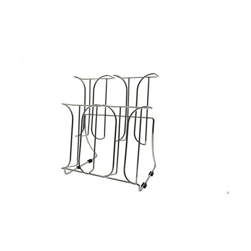 Marketing Holders Chrome Wire 2 Tier Brochure Holder 4 Pocket Stand For 4'' Literature (Pack of 2)