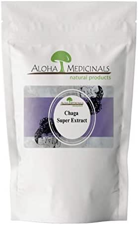 Aloha Medicinals- Pure Chaga Extract - Inonotus Obliquus - Organic and Wild Crafted – Immune System Support – Detoxifying, Anti-Inflammatory – Blood Sugar, Cholesterol Control - 1 Kilo Bag (Powder)