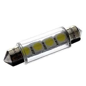 GDW 41mm 1W 4x5050SMD Luz Blanca LED 56lm Reading Coche / Placa / indicador de la lámpara (12V)