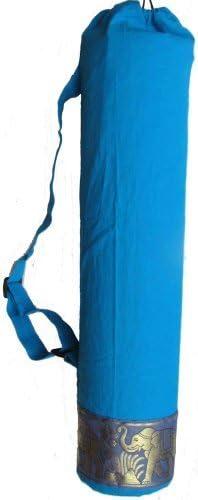 Yoga United Color Azul Bolsa para Esterilla de Yoga dise/ño de Elefante