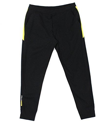 Polo Ralph Lauren Yellow Mens Colorblocked Pants Black XL