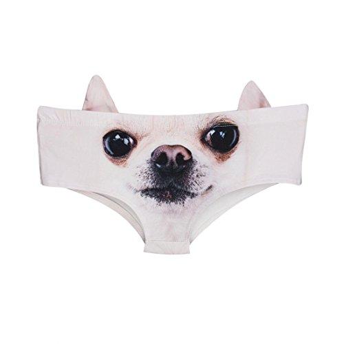 Gocheaper Sexy Women Animal 3D Printing Underwear Briefs G-Strings Traceless Crotch Lingerie (A)
