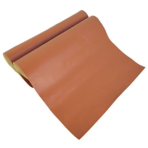 Large Leather Repair Patch Adhesive Back First-aid for Upholstery Couch Car Seat Jackets Handbags 12x24 Inches, Pack of 2 (Light Brown) ()