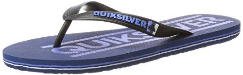 Quiksilver white Para Molokai Wordmark blue Hombre Sandalias Black rrOSw