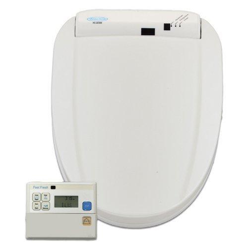Feel Fresh HI-6000WT Round Electric Bidet with Wireless Remote Control White