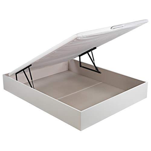 ROYAL SLEEP Canapé Abatible (150×190) de Gran Capacidad, Tapa 3D Transpirable, Color Blanco Montaje y Retirada de Usado…