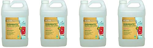 Earth Friendly Products Proline PL9722/04 Dishmate Grapefruit Ultra-Concentrated Liquid Dishwashing Cleaner, 1 gallon Bottles (Case of 4) (4-(Pack))