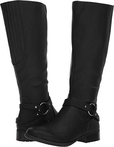 (LifeStride Women's X-Felicity Low Heel Tall Shaft Boot Knee High, Black, 7.5 M)