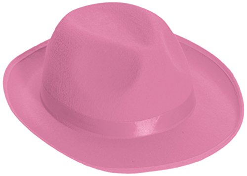 Forum Novelties Men's Deluxe Adult Novelty Fedora Hat, Pink, One Size (Adult Novelty Hats)