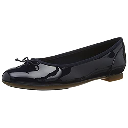 ba2f2fab166 Clarks Couture Bloom - Navy Patent (Leather) Womens Shoes outlet ...